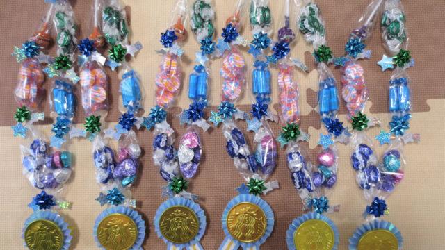 青のメダルキャンディーレイ6本